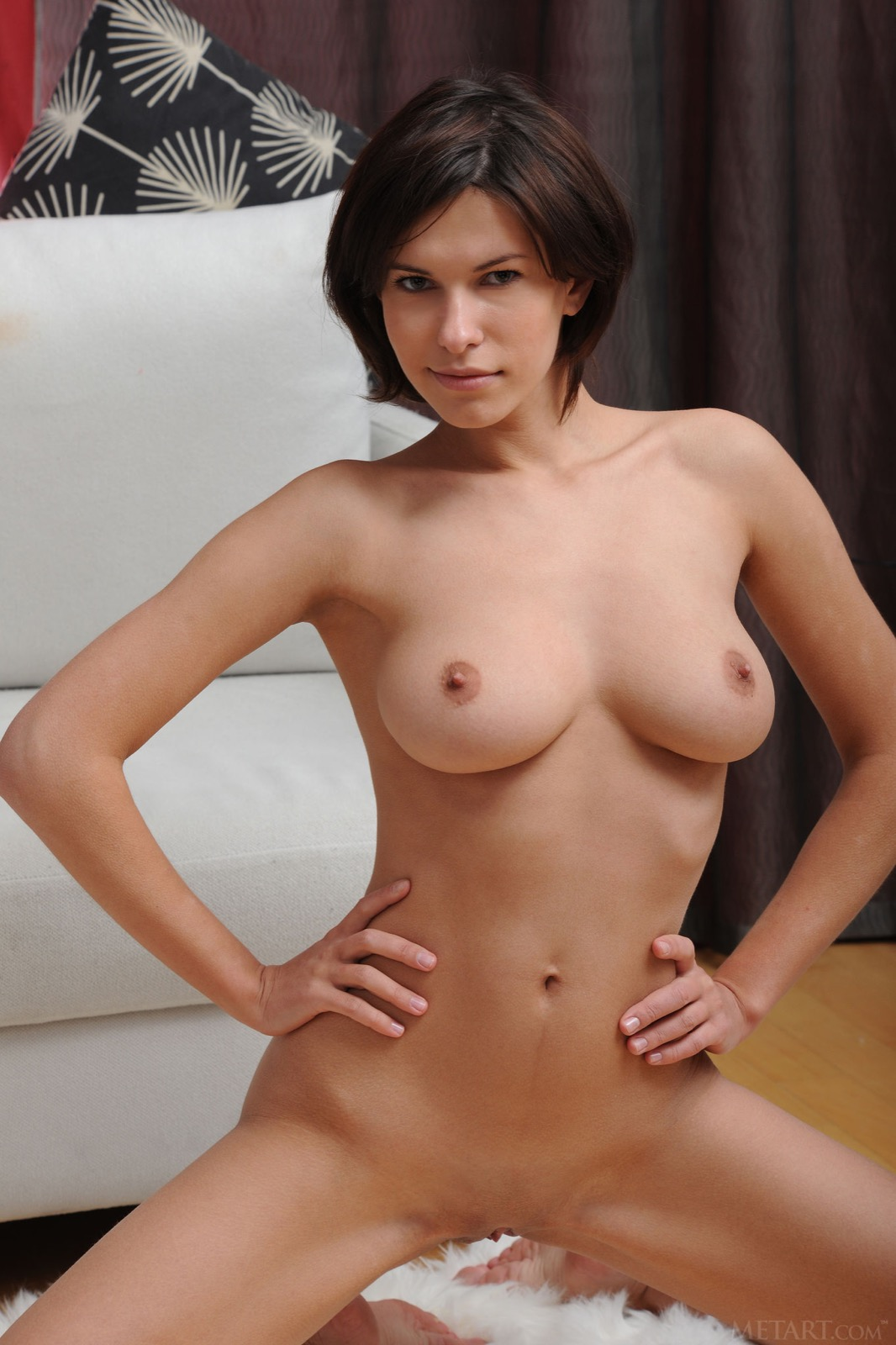cute short haired nude brunettes